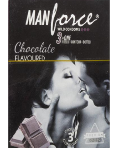 Manforce Wild Condom Chocolate	 - Flavoured - 20 condoms