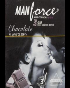 Manforce Wild Condom Chocolate - Flavoured - 20 condoms