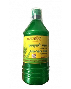 Patanjali Ayurveda Aloe Vera Juice with Fiber Pack of 2