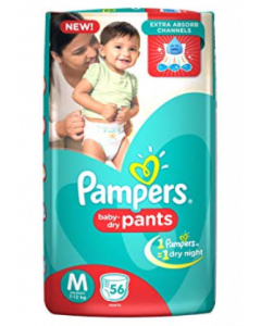 Pampers Baby Dry Pants Diaper M - 56 diapers