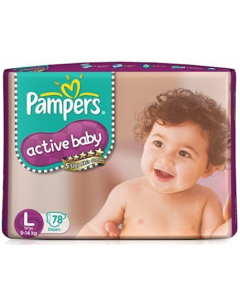 Pampers Active Baby Diaper L - 78 diapers