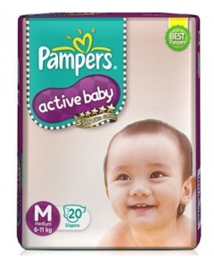 Pampers Active Baby Diaper M - 20 diapers