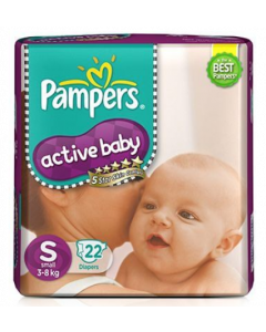 Pampers Active Baby Diaper S- 22 diapers