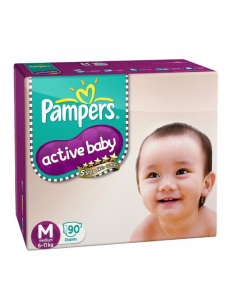 Pampers Active Baby Diaper M - 90 diapers