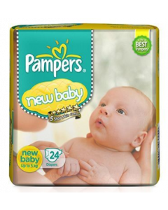 Pampers New Baby Diaper - 24 diapers