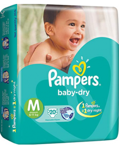 Pampers Baby Dry Diaper M - 20 diapers