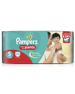 Pampers Baby Dry Pants Diaper S - 42 diapers