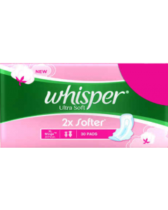 Whisper Ultra Soft Xl Wings 30Pads