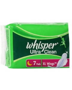 Whisper Ultra Clean, Wings Xl, 7Pads