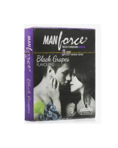Manforce Wild Condom Black Grapes	 - Flavoured