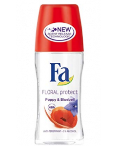 Fa Floral Protect Poppy And Bluebell Deodorant Roll-On  - 50 ml