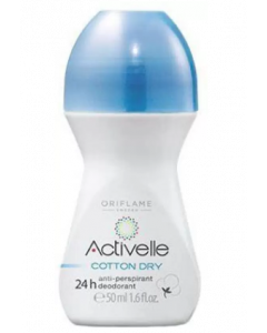 Oriflame Sweden Activelle, Cotton Dry Deodorant Roll-On  - 50 ml