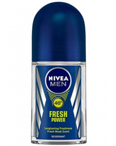 Nivea Men Fresh Power Deodorant Roll-On  -  For Men  - 50 ml
