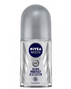 Nivea Men Silver Protect Deodorant Roll-On  -  For Men  - 50 ml