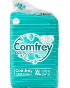 Comfrey Adult Diaper Xl - 10 diapers