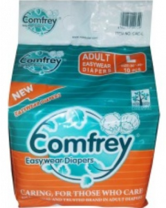 Comfrey Easy Wear Pant Type Adult Diaper L - 10 diapers