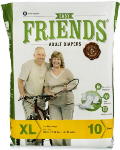Friends Easy Adult Diaper Xl - 10 diapers