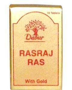 Dabur Rasraj Ras with Gold Tablet - 10 tablets