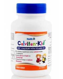 Healthvit Calvitan-Kid 150mg, Pack Of 2 - 60 tablets