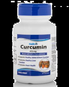 HealthVit Curcumin 475mg Capsule - 60 capsule