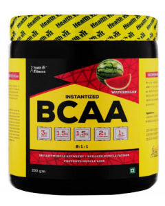 Healthvit Fitness Bcaa 6000mg 2:1:1 With L-Glutamine & L-Citrulline Malate Powder Pineapple - 200 g Powder