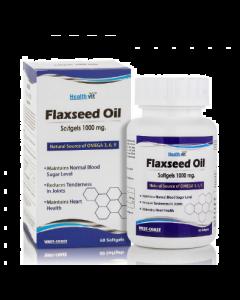 HealthVit Flaxseed Oil Softgels 1000 mg 60 Softgels