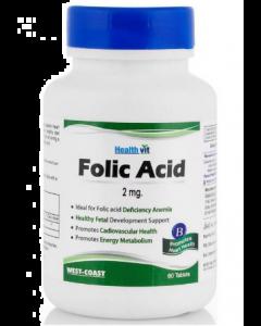 Healthvit Folic Acid Tablet 2mg - 60 tablets