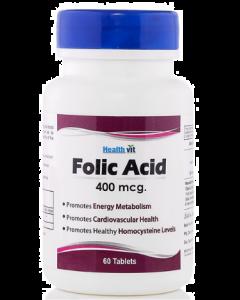 Healthvit Folic Acid Tablet 400Mcg - 60 tablets
