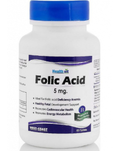 Healthvit Folic Acid Tablet 5mg - 60 tablets