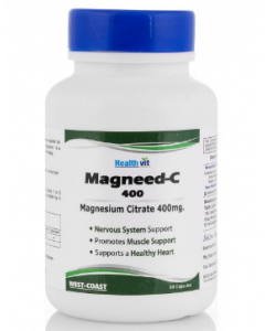 Healthvit High Absorption Magneed C-400 Magnesium Citrate Capsule 400mg - 60 capsules