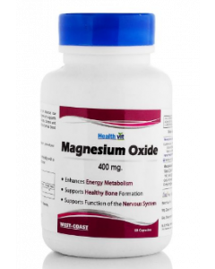 Healthvit High Absorption Magnesium Oxide Capsule 400mg - 60 capsules