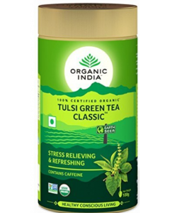 Organic India Tulsi Green Tea Tin Classic - 100 g Tea