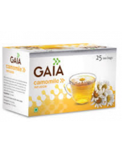 Gaia Green Tea Camomile - 25 tea bags