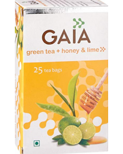 Gaia Green Tea Honey Lemon - 25 tea bags
