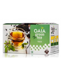 Gaia Leaf Green Tea With Tulsi - 100 g Granules