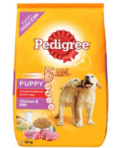 Pedigree Puppy Dry Dog Food, Chicken & Milk Chicken 20 kg